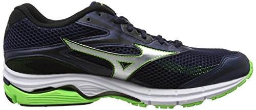 Mizuno Wave Inspire 13, Zapatillas de Running Hombre, Azul Azul (Dress Blues/silver/green Gecko)