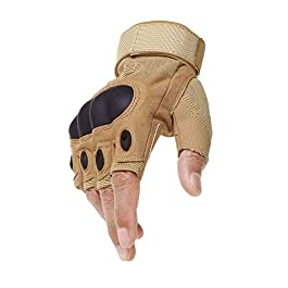 Aadishwar Creations® Tactical Half Finger Gloves for Sports, Hard Knuckle,Hiking,Cyclling,Travelling,Camping,Outdoor…