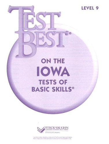 Test Best ITBS: Test Workbook  Grade 3 (Level 9)