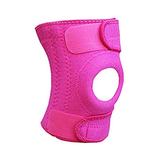 Luwint Neoprene Knee Brace, Open Patella Stabilizer with Adjustable Straps Knee Pads Support for Arthritis, ACL, Relieves Pain, Basketball, Sports, 1 - Construction Pads Knee Pink