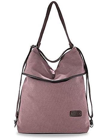 bolso tipo mochila para mujer de tela