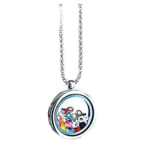 The Lakeside Collection Floating Charm Locket Necklaces - Ribbon