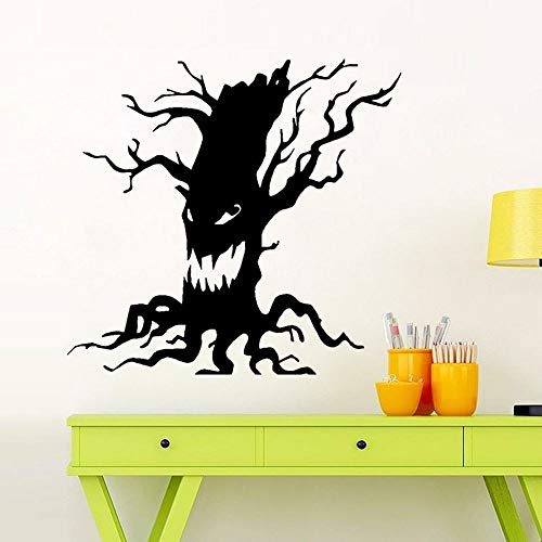 Atiehua Wall Stickers Diy Happy Halloween Scary Tree Wall Sticker Window Home Decoration Decal Decor Wall Window Glass Sticker Home Room Decor Sticker -