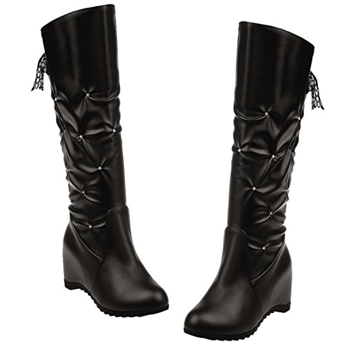 Black Classic Black Boot AIYOUMEI Classic Boot Women's AIYOUMEI Women's AIYOUMEI OqPAT
