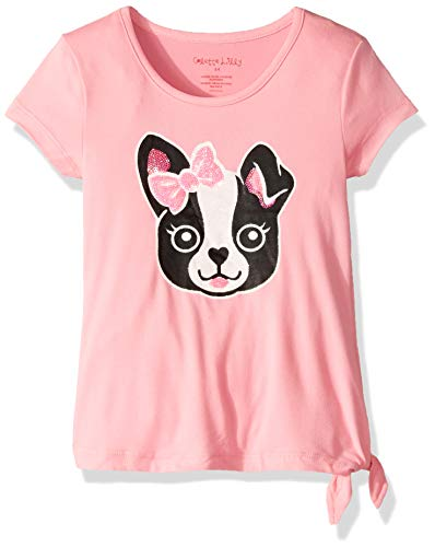 Colette Lilly Girls' Little Short Sleeve Knit Top, Pink Puppy, 6X ()