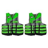 Body Glove Method Adult Small/Medium Swimming Life Preserver Jacket Vest, Green (2 Pack)