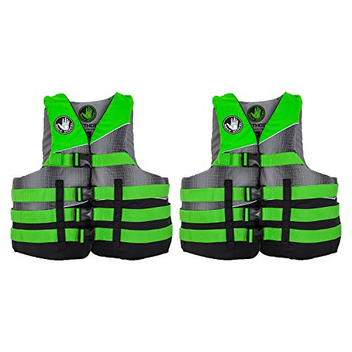 Body Glove Method Adult Small/Medium Swimming Life Preserver Jacket Vest, Green (2 (Best Body Glove Sunscreens)