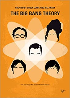 Poster 50 x 70 cm: No196 My The Big Bang Theory Minimal Poster di chungkong - Stampa Artistica Professionale, Nuovo Poster Artistico
