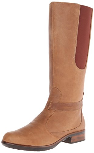 NAOT Women's Viento Riding Boot Saddle Brown Leather