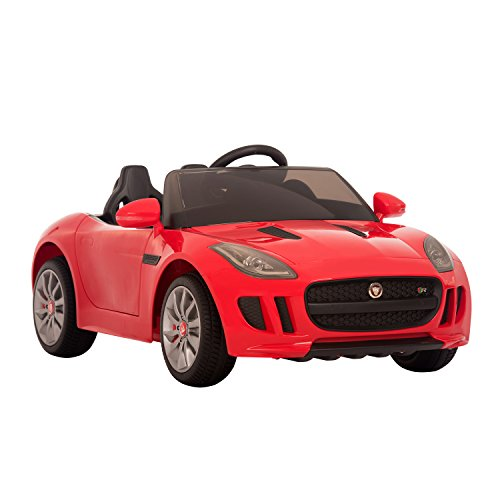 Jaguar F Type Convertible 12V Kids Electric Battery Powered Ride On Car with MP3 and Remote Control - Red