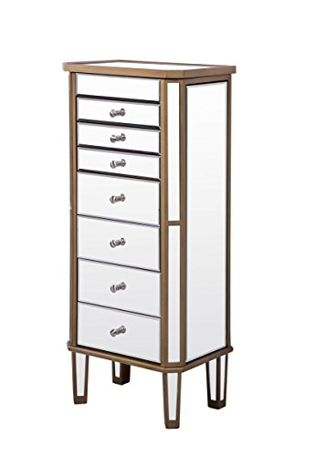 - Decor Central ADMFX6-3309GC 7 Drawers 2 Doors Jewelry Armoire, 18