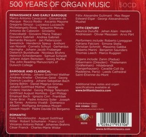500 Years of Organ Music