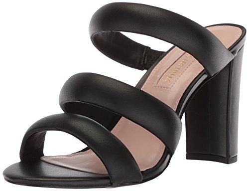 Avec Les Filles Women's Mara Heeled Sandal, Black Nappa, 6 M US