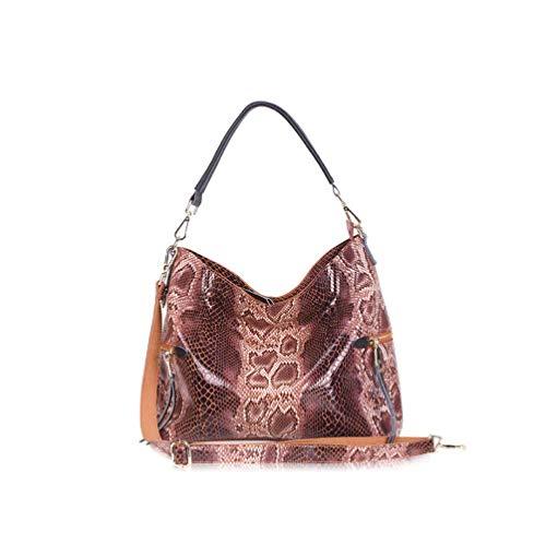 Lozoco Womens Snake Skin Handbag Shopping Bag Shoulder Bag 5 Color