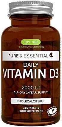 Essentials Vegetarian Vitamin Cholecalciferol Tablets product image