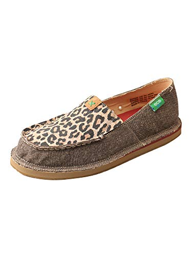 Twisted X Women's ECO C Toe Printed Casual Active Slip-On Loafers - Dust/Leopard Tan