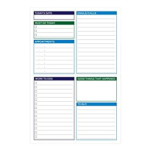 "bloom daily planners Pocket Pad - Gender Neutral Double Sided Tear Off Daily Planning Pad - 6"" x 9"""
