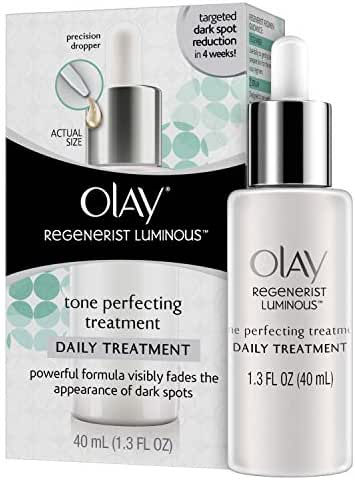 Dark Spot Corrector Face Serum by Olay Regenerist Luminous Tone Perfecting Moisturizer and Sun Spot Remover, 1.3 Fl Oz