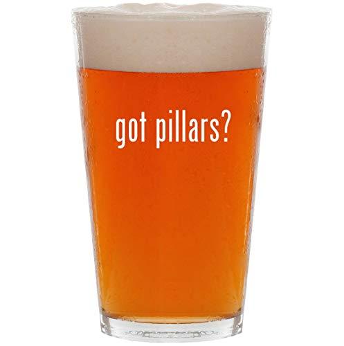 (got pillars? - 16oz All Purpose Pint Beer Glass)
