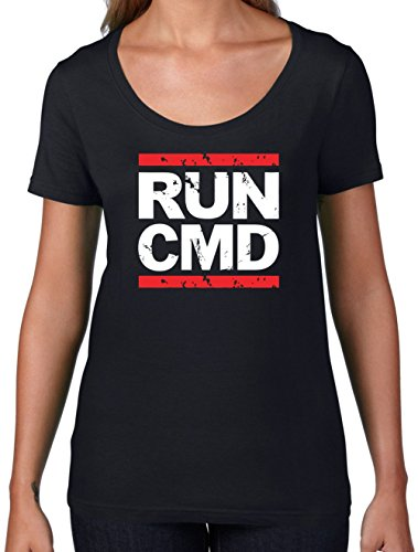 Dressdown Run CMD - Womens Scoop Neck T-Shirt- 7 Colors Black Medium