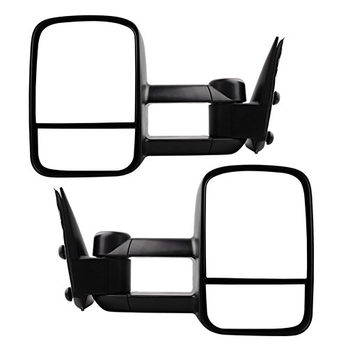 Chevy Tow Mirrors for 1999-2006 Chevy Silverado GMC Sierra Truck Towing Mirrors Manual Telescoping Side Mirrors Pair Set