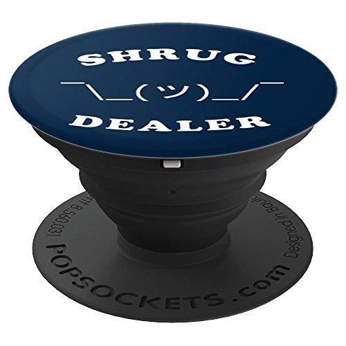 Funny Shrugging Emoji Shrug Dealer - PopSockets Grip and Stand for Phones and ()