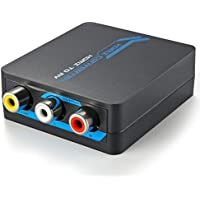 TNP HDMI to RCA Converter - HDMI to AV Composite Video Audio Stereo Converter Box Adapter Connector Down scaler to 480P/480i NTSC/PAL TV Format Output for PS4, PS3, Xbox, TV