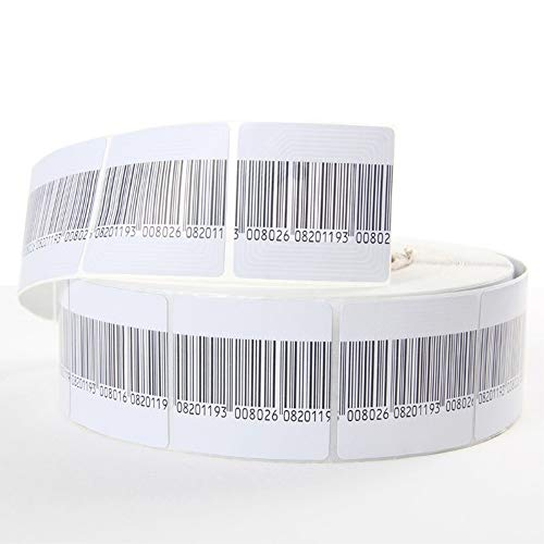 BAOSHISHAN 20000pcs Anti-theft Soft Paper Retail Security Barcode Label Tag EAS RF 8.2MHz Checkpoint Compatible 1000pcs/roll 4x4cm