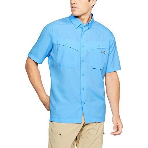 Under Armour Men's Tide Chaser Short Sleeve Shirt, Carolina Blue (477)/Steel, XX-Large, Carolina Blue (477)/Steel, XX-Large (Under Armour Mens Xxl Shirts)