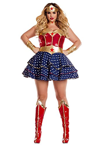 Party King Women's Wonderful Sweetheart Plus Size Costume, red/Multi, 2X-Large]()