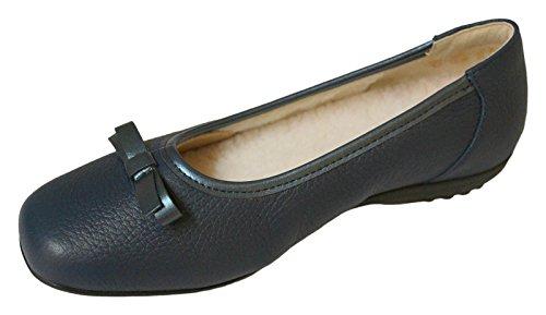 Natural Feet Tessamino Camerose Slipper Ballerina Schwarz Hirschleder Gr. 35
