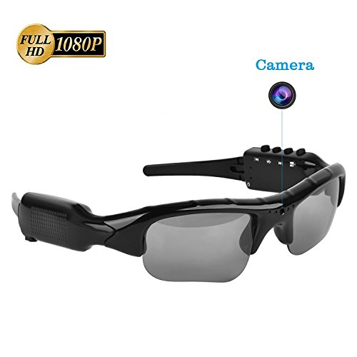 Sunglasses Camera,Real Full HD 1080P with Wide Angle Mini DVR Video for Outdoor - Camera Sunglasses Bluetooth