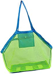 Mesh Storage Bag, Lightweight Beach Toy Storage Bag for Kids and Adults, Large Waterproof Net Durable Beach Sa