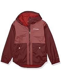 Columbia Youth Girls Rainy Trails Fleece Lined Jacket, Malbec/Malbec Slub, Small