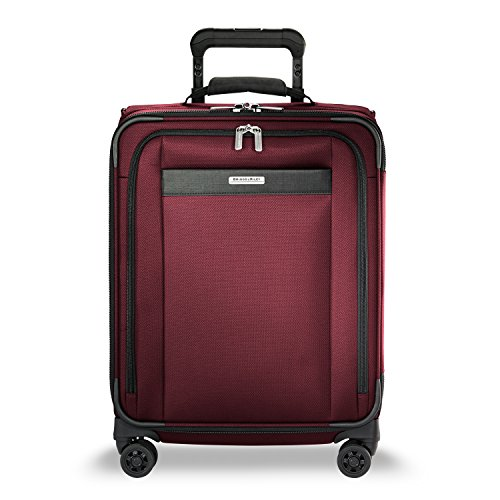 Briggs & Riley Transcend Wide Carry-on Expandable Spinner, Merlot by Briggs & Riley (Image #1)