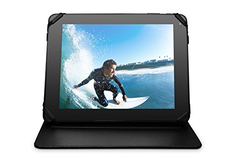 Ematic 10-inch Universal Leatherette Hardback Tablet and iPad Case, Black (10 Inch Tablet Ematic Case)