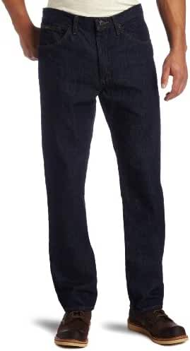 Lee Men's Regular Fit Straight Leg Jean, Rinse, 32W x 34L
