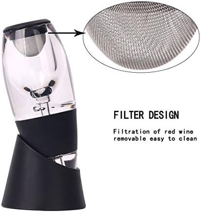 Irypulse Juego de decantador de vino, aireador de vino de decantación rápida, respirador, vertedor y filtro con expositor, mejor regalo para amantes del vino