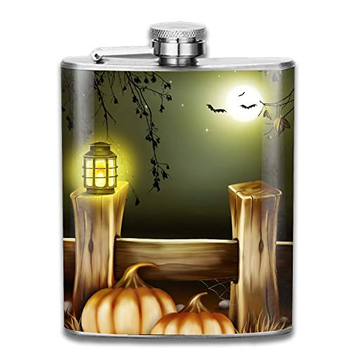 COLG Classic Flask Pocket Hip Flasks Scare Halloween Night Stainless Steel Shot Flask