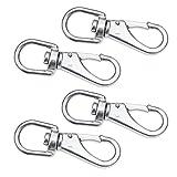 SHONAN Stainless Steel Swivel Eye Snap Hook- 4-Pack