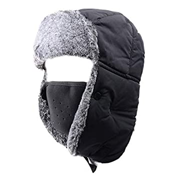 0801e4d7191 Azarxis Unisex Winter Trooper Hat Hunting Hat Ushanka Russian Cap Ear Flap  Chin Strap with Windproof
