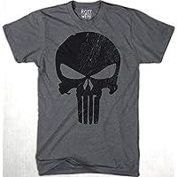 Punisher Black Marvel Playera J Rott Wear