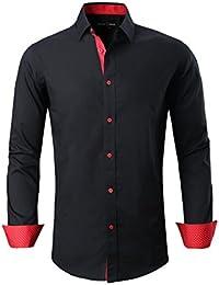 Mens Dress Shirts Casual Regular Fit Spread Collar Shirt