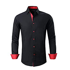 Alex Vando Mens Dress Shirts Regular Fit Long Sleeve Men Shirt 16