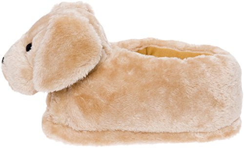 Silver Lilly Golden Retriever Slippers - Plush Dog Slippers w/Platform by (Gold, Medium) by Silver Lilly (Image #2)