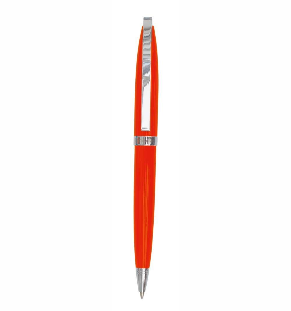 Semikolon Eclipse Ballpoint Pen in Decorative Box, Oval Barrel Design with Swiss Black Ink, Orange (7800016)