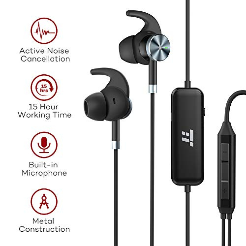 Taotronics Active Noise Cancelling Headphones  Wired