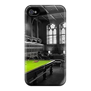New Premium Flip Case Cover Beautiful Pool Table In Game Room Skin Case For Iphone 4/4s