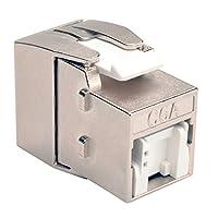 TRIPP LITE Cat6a Toolless Keystone Wall Plate Jack HDBaseT RJ45 110 Type (BHDBT-001-KJ-GY)