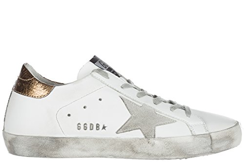 bianco donna sneakers superstar scarpe pelle nuove Goose in Golden w6pq8vf